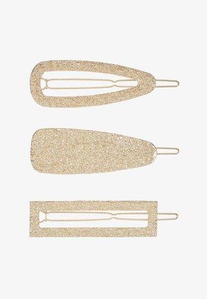 PCABELINA HAIRCLIP 3 PACK - Příslušenství kvlasovému stylingu - gold-coloured