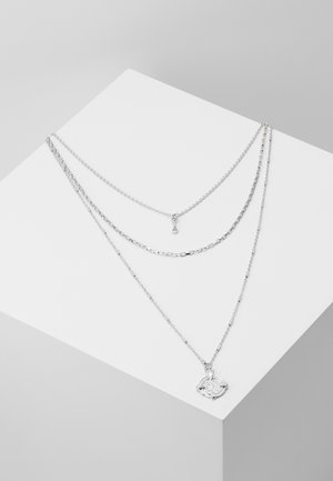 PCDORTHIE COMBI NECKLACE  - Necklace - silver-coloured