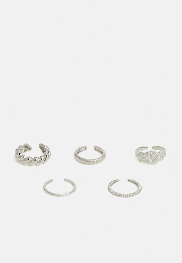 PCKATRINA 5 PACK - Bague - silver-coloured