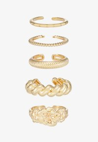 Pieces - PCKATRINA 5 PACK - Ring - gold-coloured - 3
