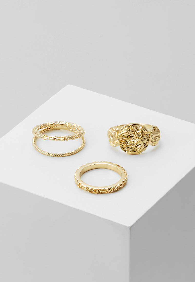Pieces - PCKATRINO 3 PACK - Ring - gold-coloured