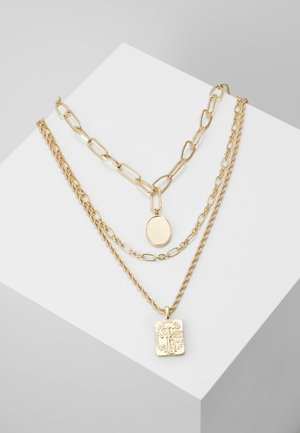 PCNAMO COMBI NECKLACE - Collier - gold-coloured