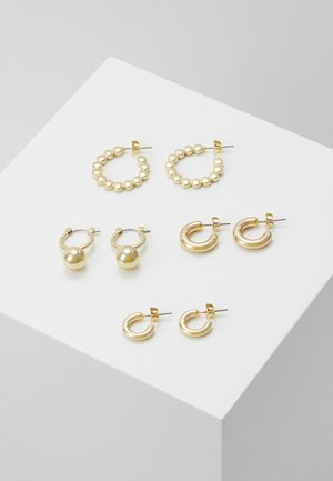 PCDIELLE HOOP EARRINGS 4 PACK  - Earrings - gold-coloured
