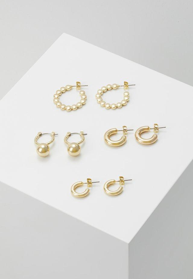PCDIELLE HOOP EARRINGS 4 PACK  - Pendientes - gold-coloured