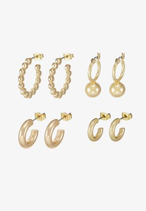PCDIELLE HOOP EARRINGS 4 PACK  - Earrings - gold-coloured