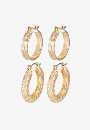 PCNIELLA HOOP EARRINGS 2 PACK  - Øreringe - gold-coloured