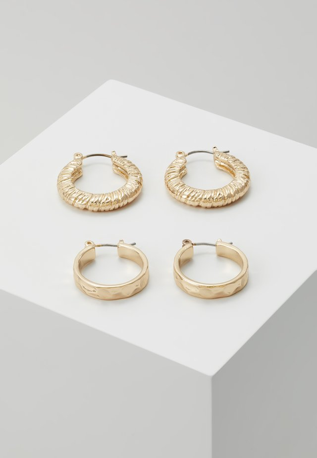 PCNIELLA HOOP EARRINGS 2 PACK  - Orecchini - gold-coloured