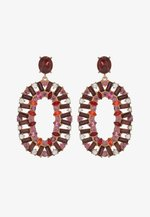 PCRUBY EARRINGS - Boucles d'oreilles - gold-coloured/red