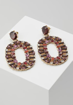 PCRUBY EARRINGS - Náušnice - gold-coloured/red
