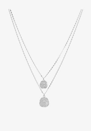 PCROMAN COMBI NECKLACE  - Necklace - silver-coloured