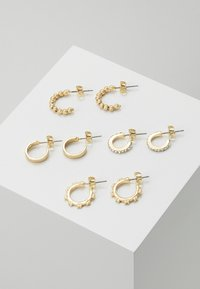 Pieces - PCANN 4 PACK HOOP EARRINGS  - Earrings - gold-coloured - 0