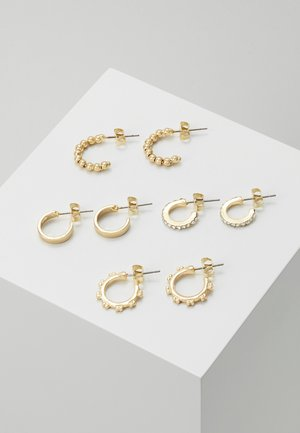 PCANN 4 PACK HOOP EARRINGS  - Örhänge - gold-coloured