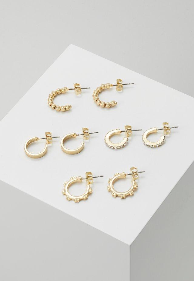 PCANN 4 PACK HOOP EARRINGS  - Korvakorut - gold-coloured