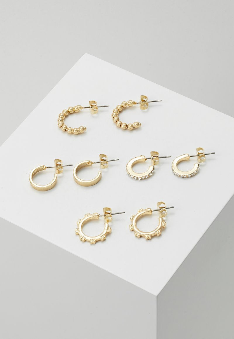 Pieces - PCANN 4 PACK HOOP EARRINGS  - Earrings - gold-coloured