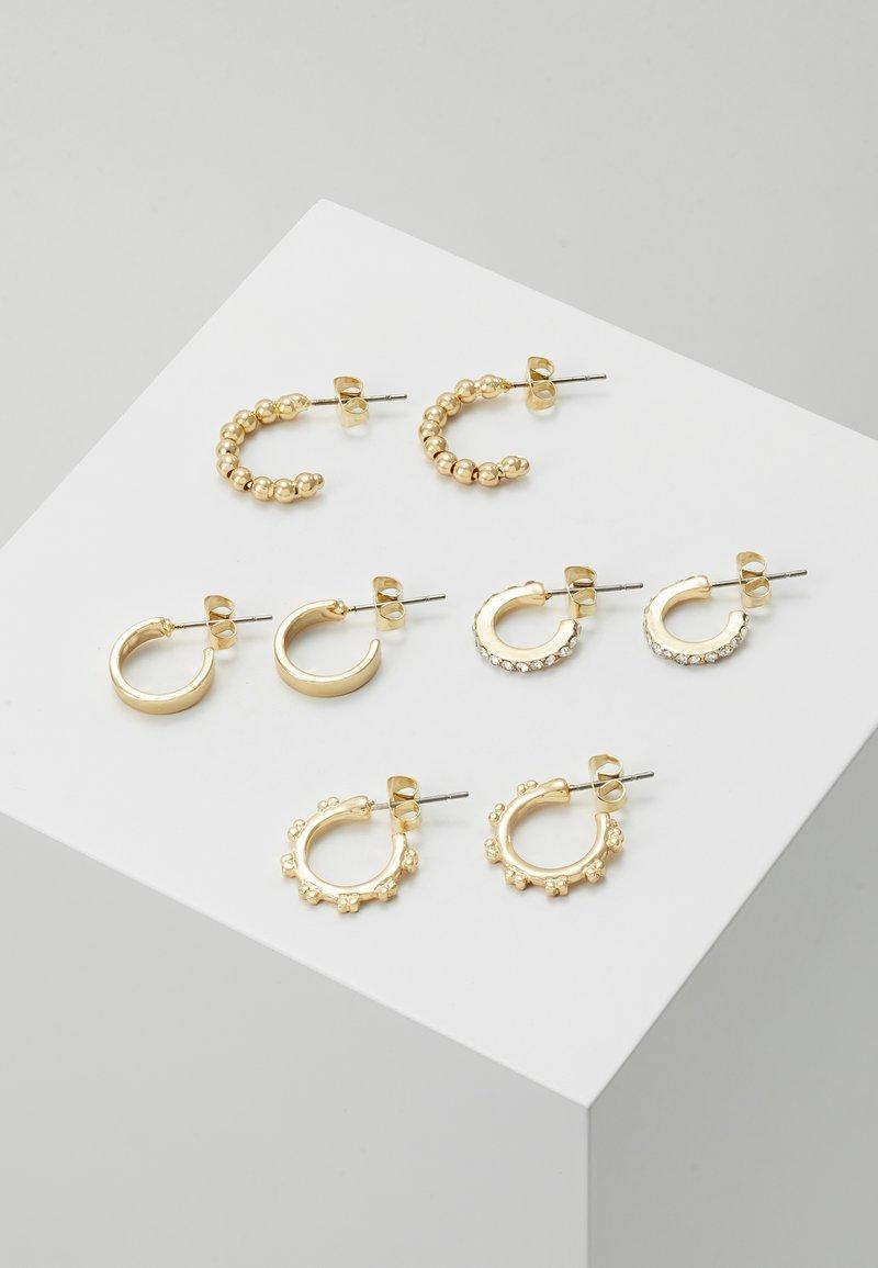 Pieces - PCANN 4 PACK HOOP EARRINGS  - Orecchini - gold-coloured