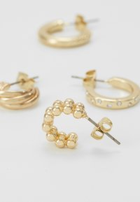 Pieces - PCJUMIA HOOP EARRINGS 4 PACK - Ohrringe - gold-coloured - 2