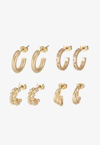 Pieces - PCJUMIA HOOP EARRINGS 4 PACK - Ohrringe - gold-coloured - 1