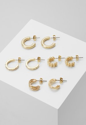 PCJUMIA HOOP EARRINGS 4 PACK - Ohrringe - gold-coloured