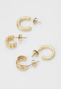 Pieces - PCJUMIA HOOP EARRINGS 4 PACK - Ohrringe - gold-coloured - 3