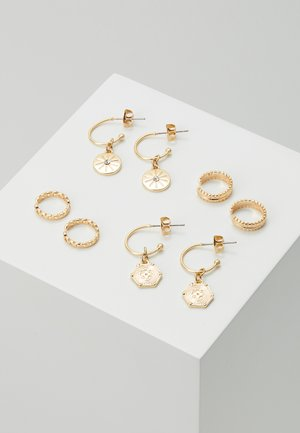 PCGABRILY EARRINGS 4 PACK - Earrings - gold-coloured