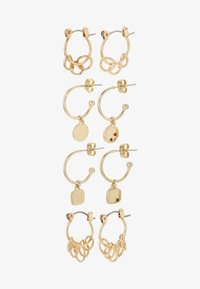 Pieces - PCORINGA HOOP EARRINGS 4 PACK - Náušnice - gold-coloured - 3