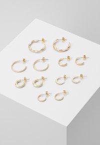 Pieces - PCDIONA HOOP EARRINGS 6 PACK - Øredobber - gold-coloured - 0
