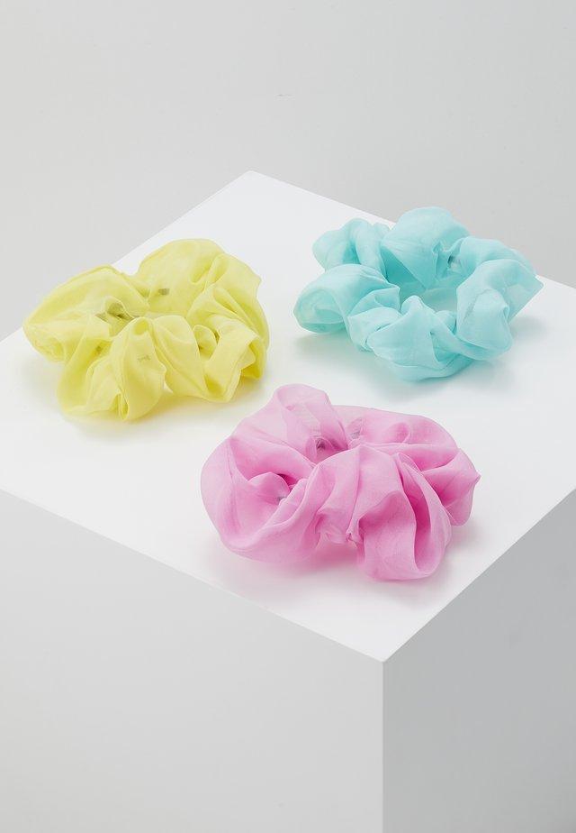 PCDIOLA SCRUNCHIE 3 PACK - Hair Styling Accessory - buttercup/obou-gash