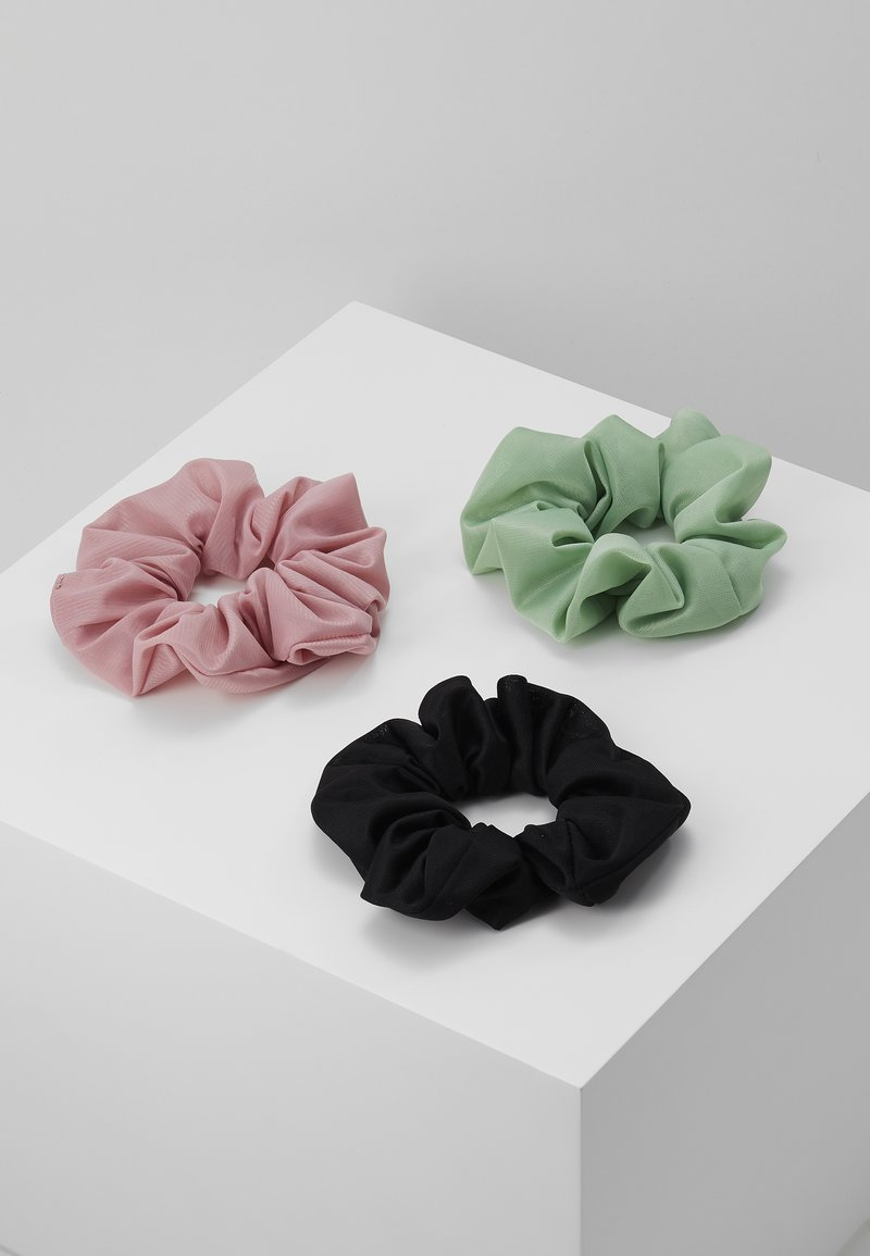 Pieces - PCJESSICA SCRUNCHIE 3 PACK - Hair Styling Accessory - black/rose