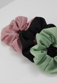 Pieces - PCJESSICA SCRUNCHIE 3 PACK - Hair Styling Accessory - black/rose - 4