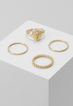PCLION 4 PACK - Ring - gold-coloured