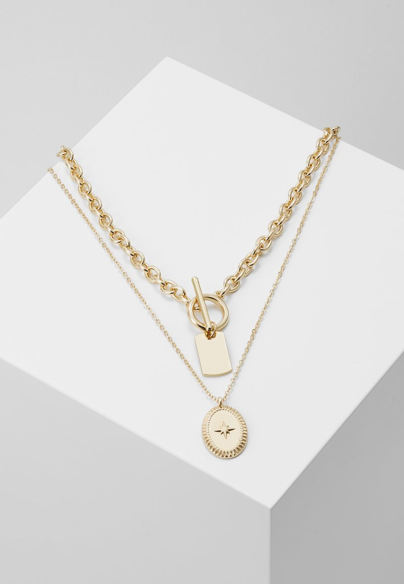 Pieces - PCDUNIO COMBI NECKLACE KEY 2 PACK - Ketting - gold-coloured
