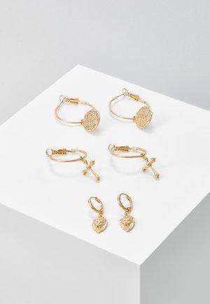 PCJOLENE HOOP EARRINGS 3 PACK - Boucles d'oreilles - gold-coloured