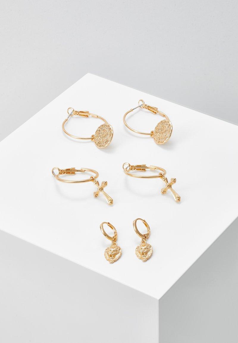 Pieces - PCJOLENE HOOP EARRINGS 3 PACK - Øredobber - gold-coloured