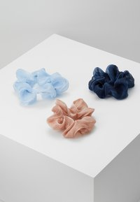 Pieces - PCJULIETTA SCRUNCHIE 3-PACK - Hair Styling Accessory - kentucky blue/tcoco-nbla - 3