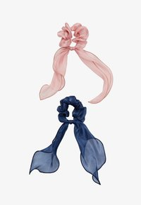 Pieces - PCJISA BOW SCRUNCHIE 2 PACK  - Hair Styling Accessory - navy blazer/ash rose - 1