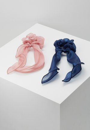 PCJISA BOW SCRUNCHIE 2 PACK  - Hair Styling Accessory - navy blazer/ash rose