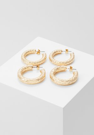 PCMARTHE HOOP EARRINGS 2 PACK - Earrings - gold coloured
