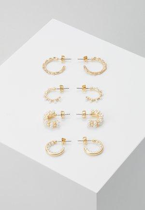 PCNANYA HOOP EARRINGS 4 PACK - Örhänge - gold-coloured