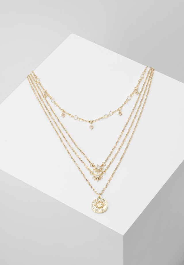 PCSKY COMBI NECKLACE - Necklace - gold-coloured/clear