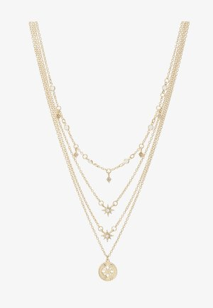 PCSKY COMBI NECKLACE - Collier - gold-coloured/clear