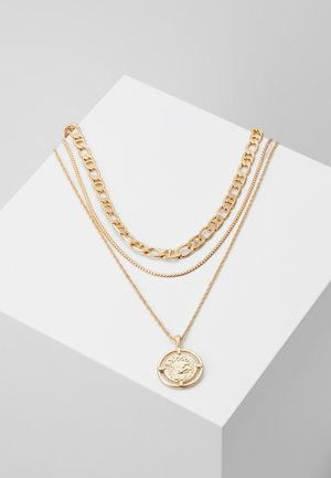 PCPRIMA COMBI NECKLACE 3 PACK - Necklace - gold-coloured