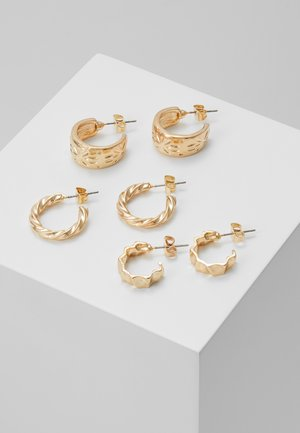 HOOP EARRINGS 3 PACK - Boucles d'oreilles - gold-coloured