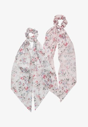 PCBLOSSOM BOW SCRUNCHIE 2 PACK - Haaraccessoire - bright white/rose