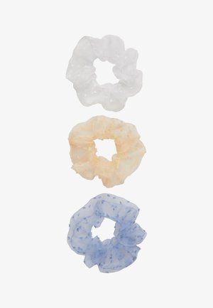 PCJALICE SCRUNCHIE 3 PACK - Hair styling accessory - kentucky blue/tan