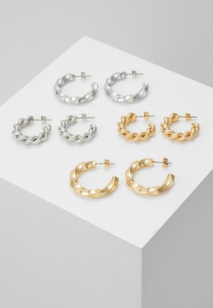 PCOLLU 4 PACK - Oorbellen - silver coloured/gold-coloured