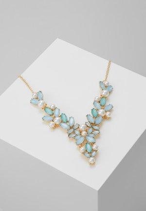 PCLINNEA STONE NECKLACE - Necklace - gold coloured/blue