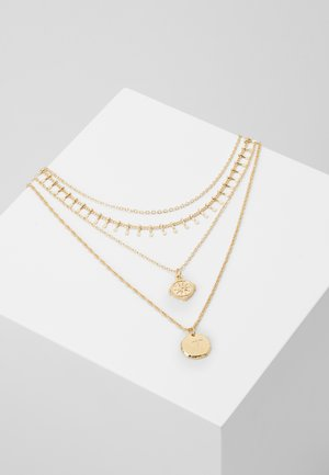 PCNARIALA COMBI NECKLACE - Collana - gold coloured