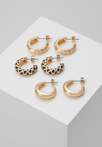 Pieces - PCCLARY EARRINGS 3 PACK - Korvakorut - gold-coloured - 0