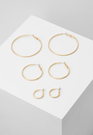 PCFASAY HOOP  3 PACK - Korvakorut - gold-coloured