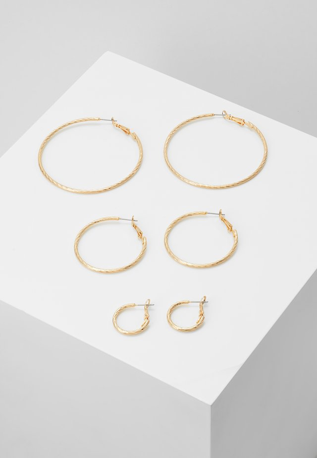 PCFASAY HOOP  3 PACK - Ohrringe - gold-coloured